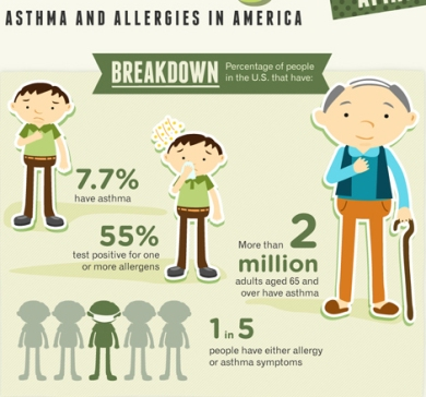 allergy asthma infographic