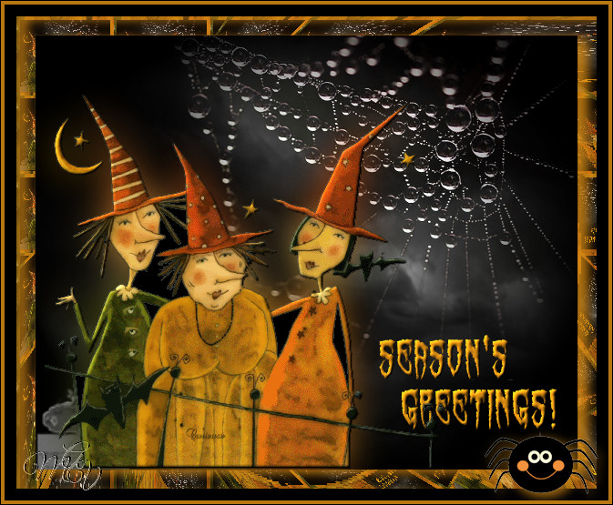 3 witches season's greetings  Oct