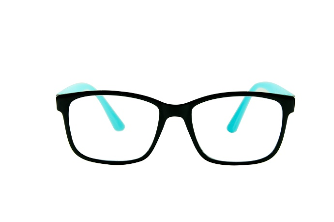 Blue Eye Glasses Isolated