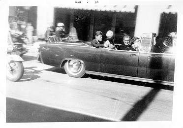 Rare photo of JFK in motorcade on day of his assassination (supplied by Scott K. Hale)